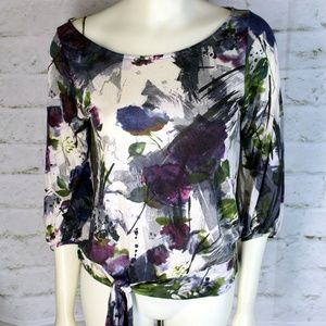 Weston Wear • Multi-Color Floral Blouson Top